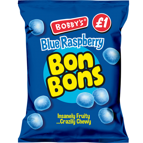 Bobbys Blue Raspberry Bon Bon 150g Packet